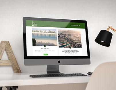 Dubai Plus Four Website Mockup