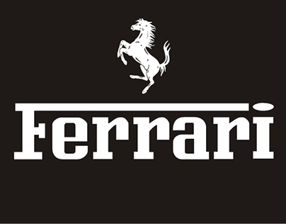 Ferrari. Progetti grafici. Grafiche di allestimento.