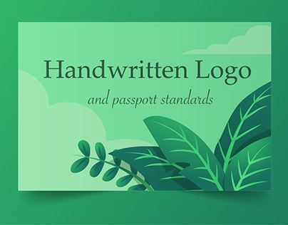 Handwritten Logo and passport standards