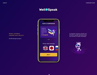 WellSpeak App & Landing Page