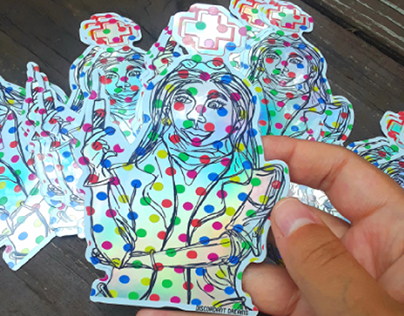 Nurse Sticker Design