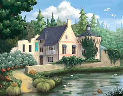 Digital landscape artwork