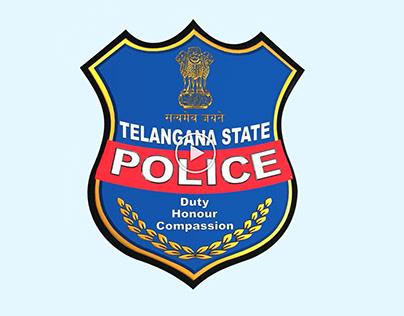 Telangana State Police Department Logo Animation