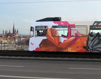 Landesgartenschau 2018 Tramway- Design / Painting