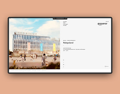 UI/UX, CI – grosvenor – Website Redesign