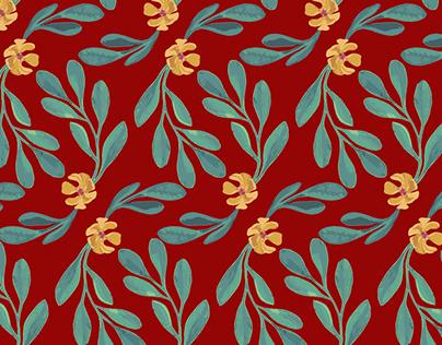 Fashion plants. Textile Design