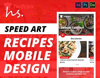 Recipes Mobile Design - Speed Art ( XD )