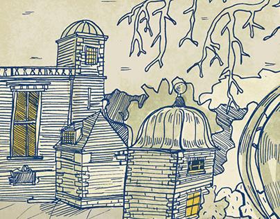 Historic garden | digital illustration