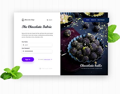 The Chocolate Fabric Landing Page