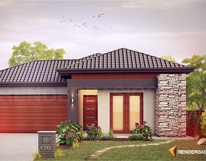 Australian House Rendering