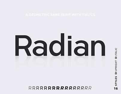 Radian | A Geometric Sans With Italics