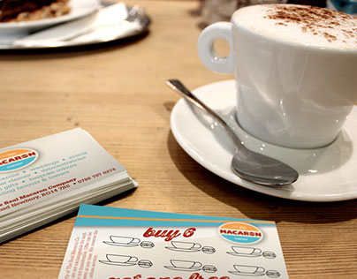 Leaflet & Loyalty Card for The Real Macaron Co.