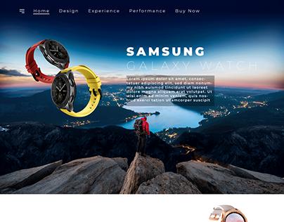 Samsung Galaxy Watch Webpage - Redesign