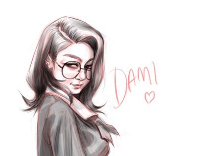Dami of Dreamcatcher Fanart Commission