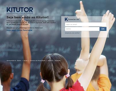 Kitutor - Sistema web de rede social para escolas.