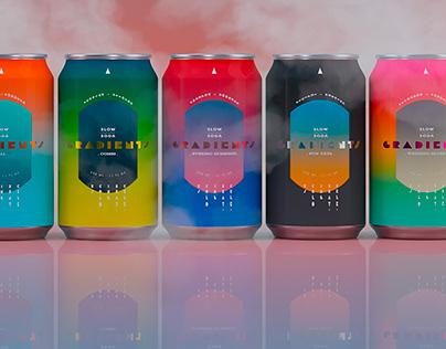 Gradients Slow-Soda beverages
