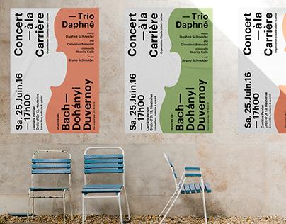 Concert à la Carrière, Poster design
