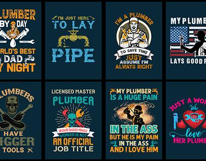 Plumber T-Shirt bundle Design