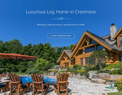 Real Estate Website for Luxury Log Home