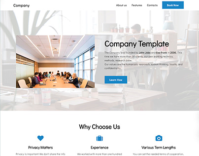 8b | Company Simple HTML5 Template!
