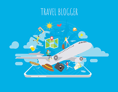 A website for a travel blogger
