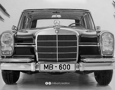 """Mercedes-Benz 600 Pullman Limousine"" - Drawing"