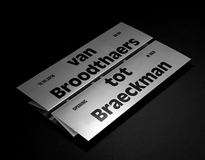 M HKA 'Van Broodthaers tot Braeckman'