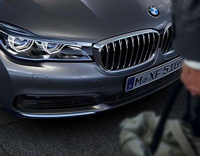 CGI visuals of BMW 7 Series in Hongkong