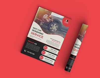 Washing Car Flyer Design Template (FREE)