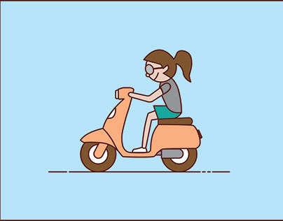 Animation - Scooter Girl