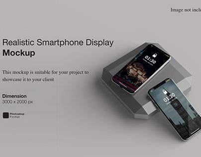 Realistic Smartphone Display Mockup