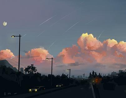 Sunset,sky and u -concept -Payon