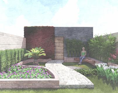 Projeto Paisagistico - Pequeno jardim