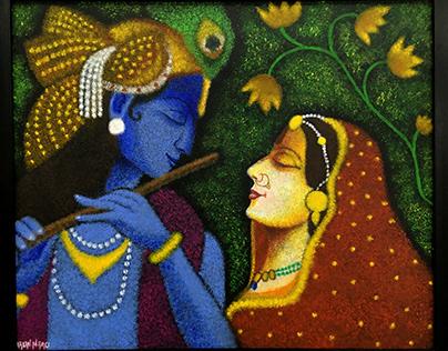 Acrylic Painting - Radhe Krishna
