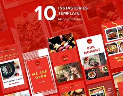 Food Instagram Stories Template for Udah Makan Belum