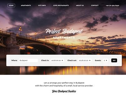 Perfect Budapest Apartments - Website design