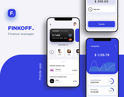 Finance manager. Mobile app & Dashboard