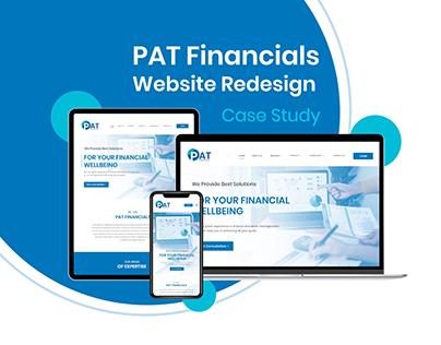 PAT Financials Website Redesign - Case Study