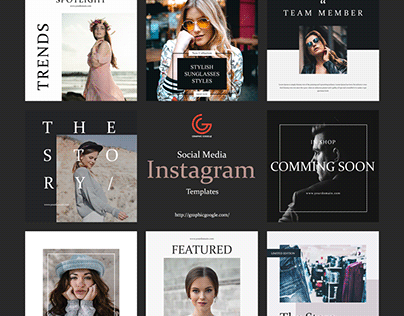 Free 8 Social Media Instagram Templates