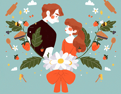 pushing daisies — illustrated poster