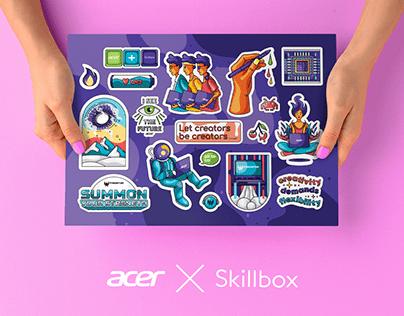 ACER ✕ SKILLBOX STICKER PACK
