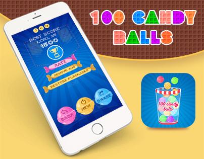 100 candy balls-IOS game design