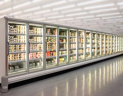 Ice Cream freezer at supermarket