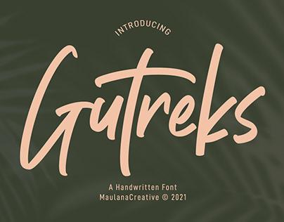 Gutreks Handwritten Font
