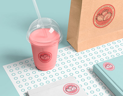 Strawberry Organic Smoothie Identity