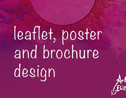 Leaflet, poster, brochure, invitation design