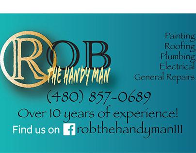 Rob The HandyMan business card ideas