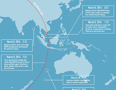 Where is MH370? Infographic