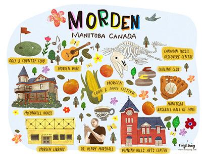Morden Town Illustration