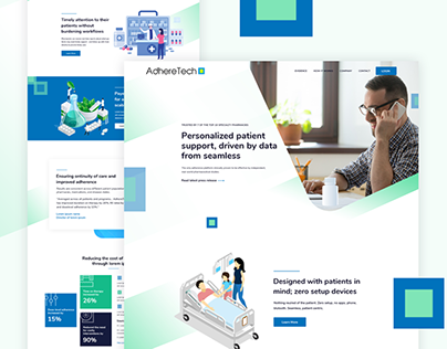 Adhere tech medical assistant UI design